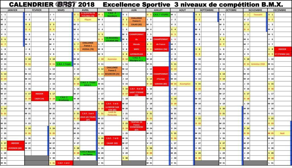 compétitions en 2018 de BMX Race BRST