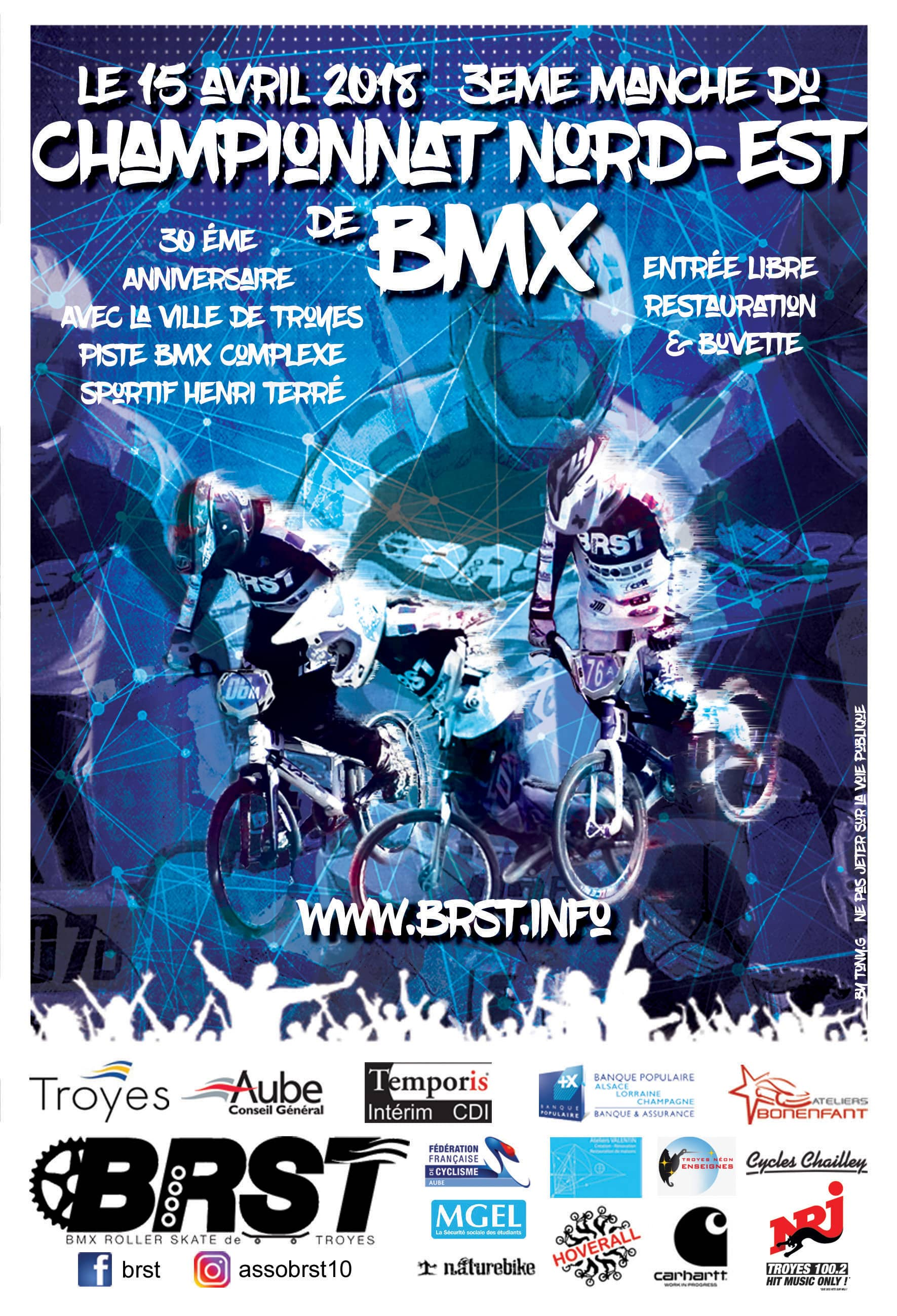 Bmx Roller Skate de Troyes CNE BMX 2018